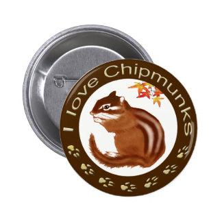 Chipmunk_ Circle_12 Pinback Button