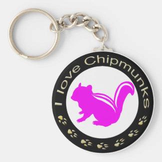 Chipmunk_ Circle_16 Key Chain