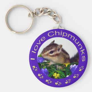 Chipmunk_ Circle_18 Keychain