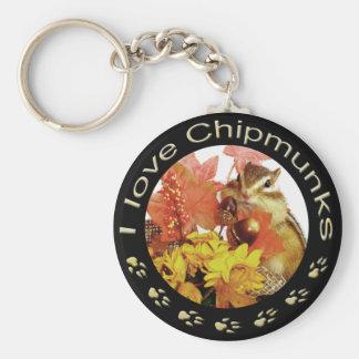 Chipmunk_ Circle_25 Keychains