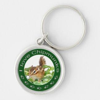 Chipmunk_ Circle_29 Keychains