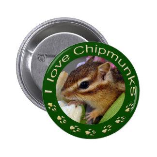 Chipmunk_ Circle_3 Pinback Button