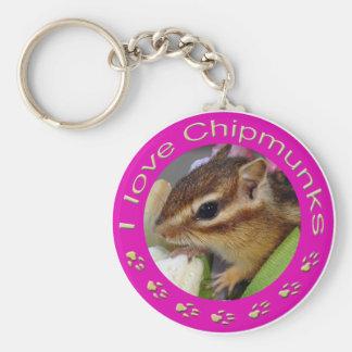 Chipmunk_ Circle_4 Keychains