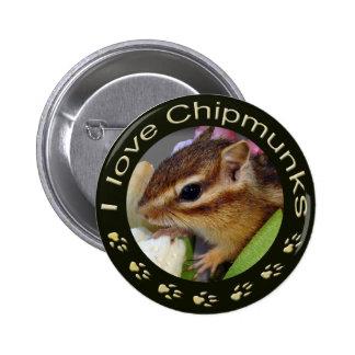 Chipmunk_ Circle_55 Pinback Button