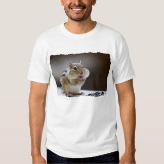 Chipmunk con la foto llena de las mejillas remera