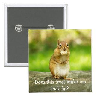 Chipmunk con la invitación pin cuadrada 5 cm