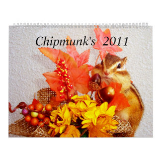 chipmunk (customizable and All country) Calendar