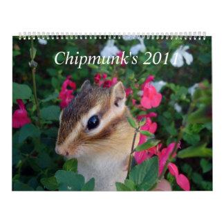 chipmunk (customizable and USA) Calendar