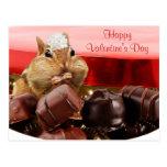 Chipmunk de la tarjeta del día de San Valentín Postal