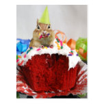 Chipmunk del cumpleaños postal