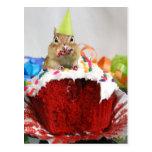 Chipmunk del cumpleaños tarjeta postal