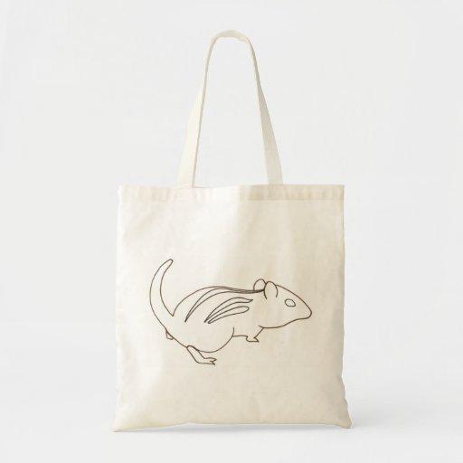 Chipmunk del dibujo del arte del esquema, bolsos d bolsas de mano