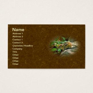 Chipmunk del este en registro tarjeta de negocios