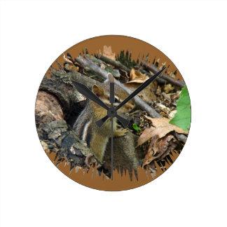 Chipmunk del este - striatus del Tamias Reloj Redondo Mediano