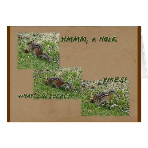 Chipmunk del este - striatus del Tamias - YIKES Felicitaciones