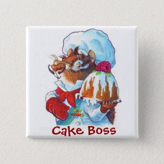 Chipmunk Dessert Chef Pinback Button
