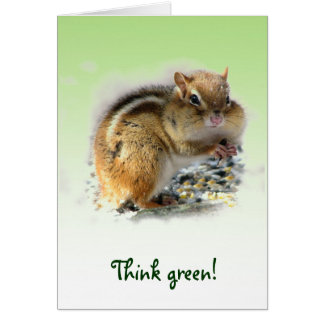 Chipmunk Earth Day Cards