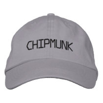 CHIPMUNK EMBROIDERED BASEBALL HAT