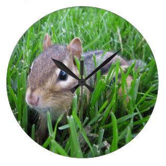 Chipmunk en la hierba relojes