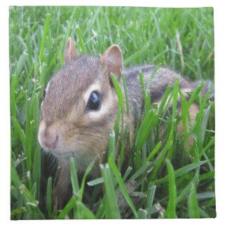 Chipmunk en la hierba servilletas