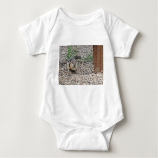 Chipmunk Feeding on Ground Baby Bodysuit