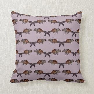 Chipmunk Frenzy Pillow (Dusty Pink)