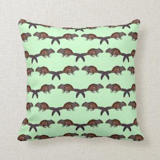 Chipmunk Frenzy Pillow (Light Green)