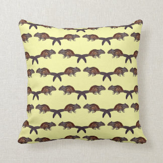 Chipmunk Frenzy Pillow (Pale Yellow)