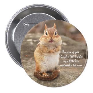 Chipmunk Friendship Quote 3 Inch Round Button