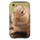 Chipmunk gordo y feliz iPhone 3 tough funda