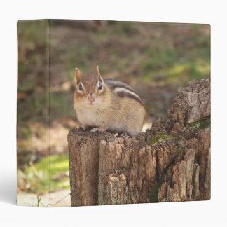 "Chipmunk gordo y mullido lindo 1,5"" álbum de foto carpeta 1 1/2"""