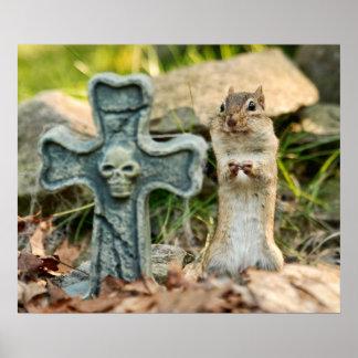 Chipmunk Halloween Fun Poster