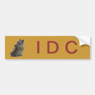 Chipmunk IDC Bumper Sticker Car Bumper Sticker