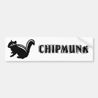Chipmunk illustration (14) Black Bumper Stickers