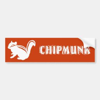 Chipmunk illustration (14) Wihte Bumper Stickers
