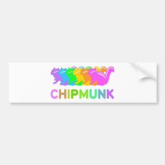 Chipmunk illustration (16) bumper sticker