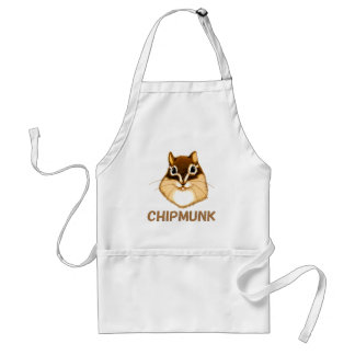Chipmunk illustration (4) adult apron