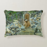 Chipmunk in Glacier National Park I Nature Photo Accent Pillow