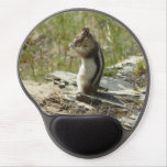 Chipmunk in Glacier National Park II Nature Photo Gel Mouse Pad