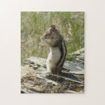 Chipmunk in Glacier National Park II Nature Photo Jigsaw Puzzle