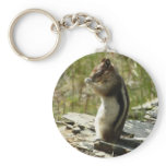 Chipmunk in Glacier National Park II Nature Photo Keychain