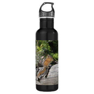 Chipmunk in the Forest Stainless Steel Water Bottle