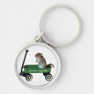 Chipmunk in Wagon Keychain