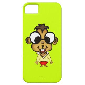 Chipmunk lindo del dibujo animado iPhone 5 protectores