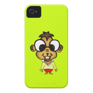 Chipmunk lindo del dibujo animado iPhone 4 Case-Mate cárcasas