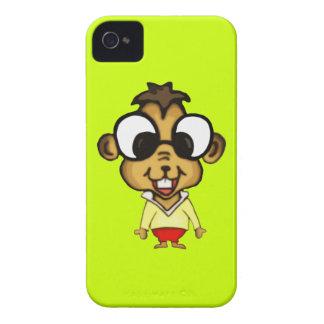 Chipmunk lindo del dibujo animado iPhone 4 coberturas
