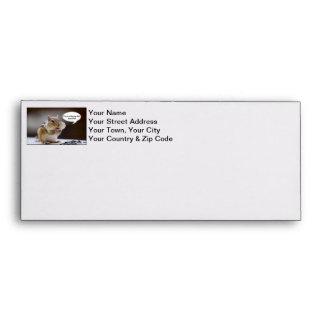 Chipmunk on a Diet Photo Envelopes