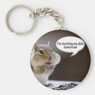 Chipmunk on a Diet Photo Keychain