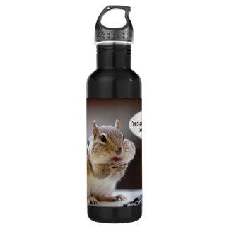 Chipmunk on a Diet Photo Stainless Steel Water Bottle