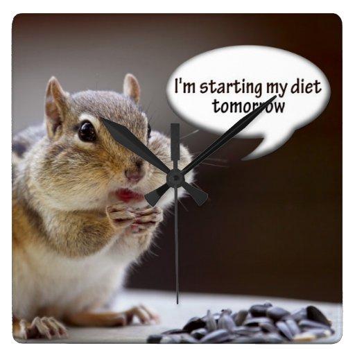 Chipmunk on a Diet Photo Wall Clock